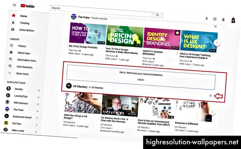 Preporuke karike mogu se selektivno prilagoditi za personaliziraniju početnu stranicu.