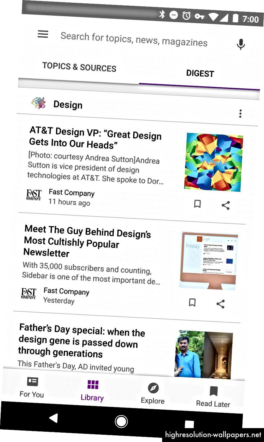 Възпроизвеждане на музика, Google+, Play Newsstand