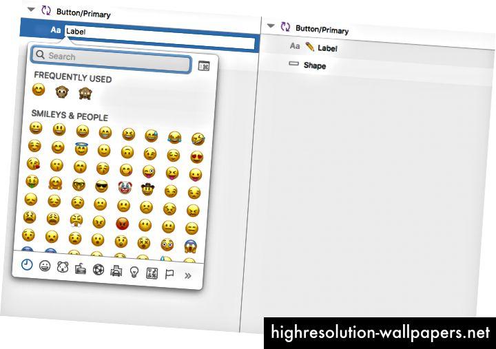 Dodavanje emojija u naziv sloja opcija je kada želite istaknuti njegovu svrhu.