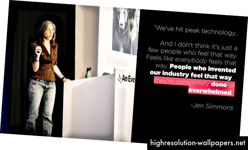 """""""Folk, der opfandt vores industri, føler det på den måde… de er fuldstændig færdige eller overvældede."""" (Understreger mine.)"""