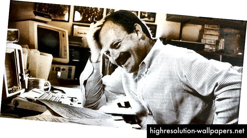 Ο συγγραφέας, προγραμματισμός, περίπου το 1988