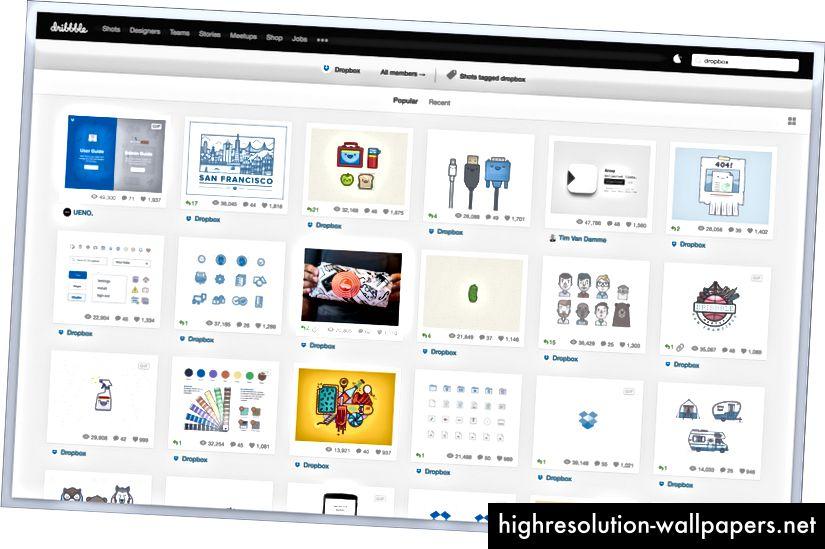 Dropbox formidler deres personlighed gennem illustrationer.
