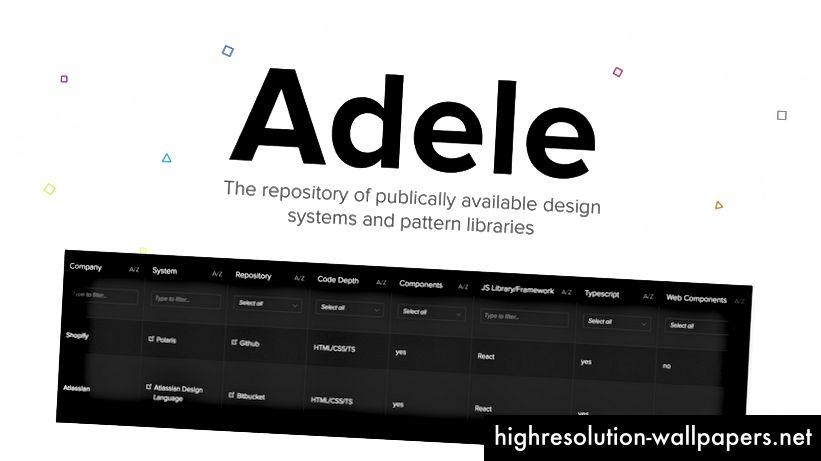 Adele - opbevaringsstedet for designsystemer og mønsterbiblioteker: https://adele.uxpin.com/