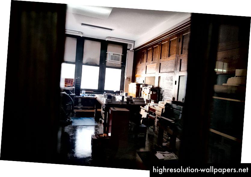 Lijevo: Studio za oživljavanje Letterpressa