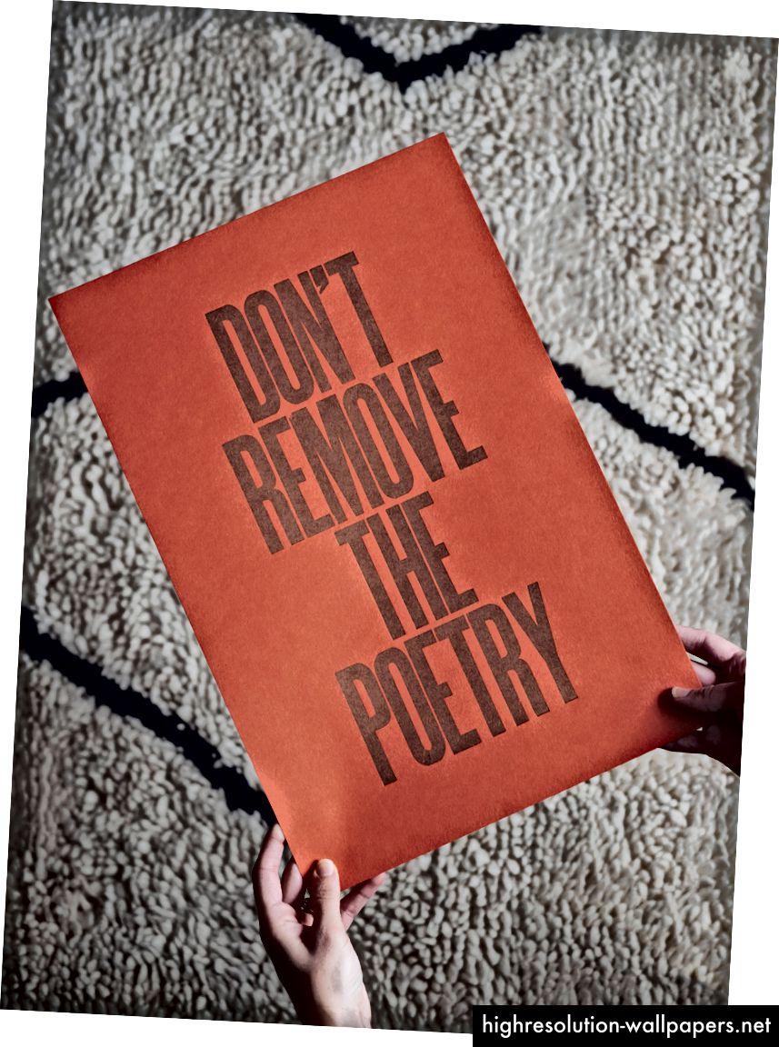 Ne uklanjajte plakat poezije.