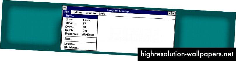 Windows NT (1993): Ellipses overalt!