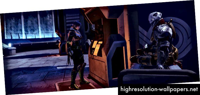 En spiller der bruger et hvælv i Destiny