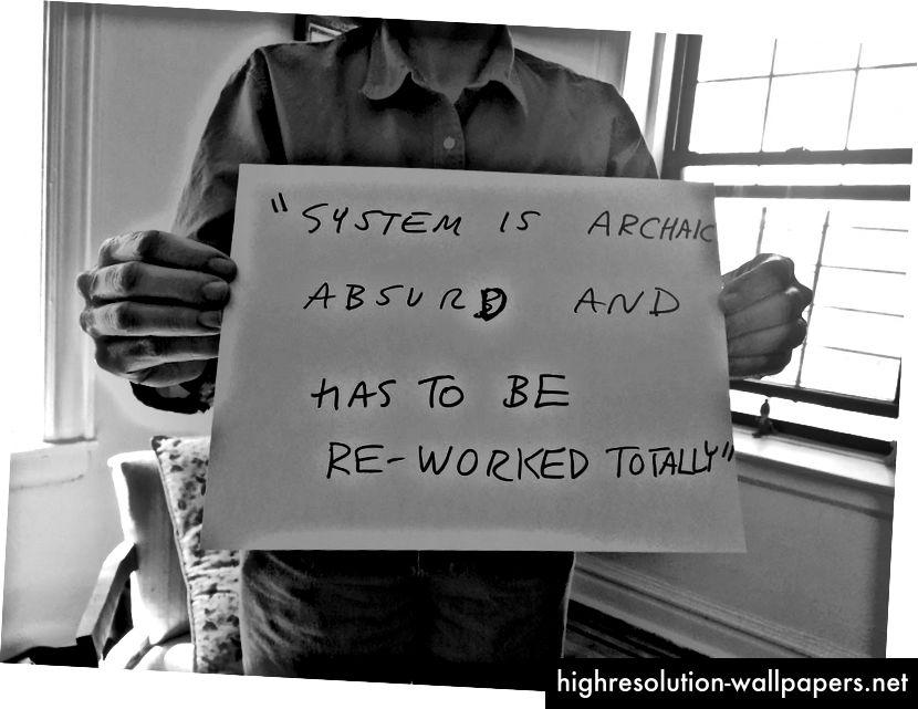 En deltagers synspunkt på hendes oplevelse med systemet med offentlige fordele