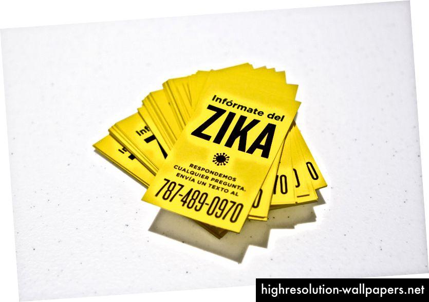 Kortene, der blev distribueret for at skabe opmærksomhed omkring Zikabot-initiativet