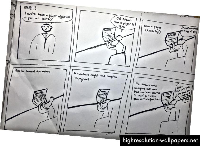 Storyboard til Mr. Sammie Gold.