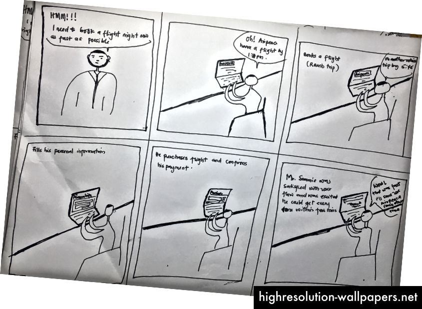 Storyboard per Mr. Sammie Gold.