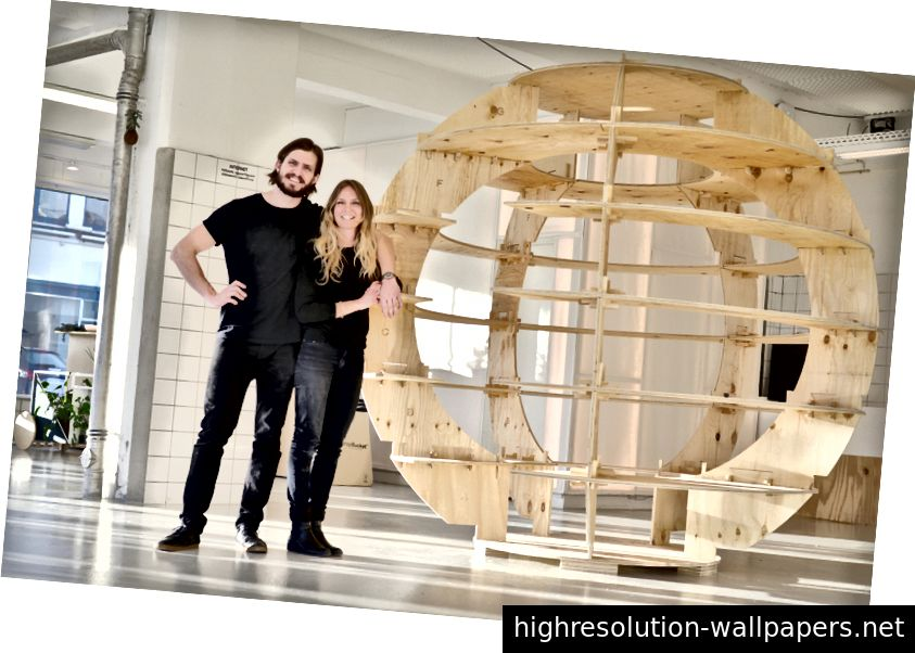 Mads-Ulrik Husum og Sine Lindholm - arkitektene bag The Growroom. Foto af Niklas Vindelev