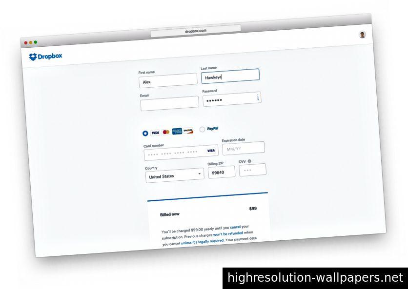Un simulatore di aggiornamento visivo per la pagina Acquista (dal 2016)