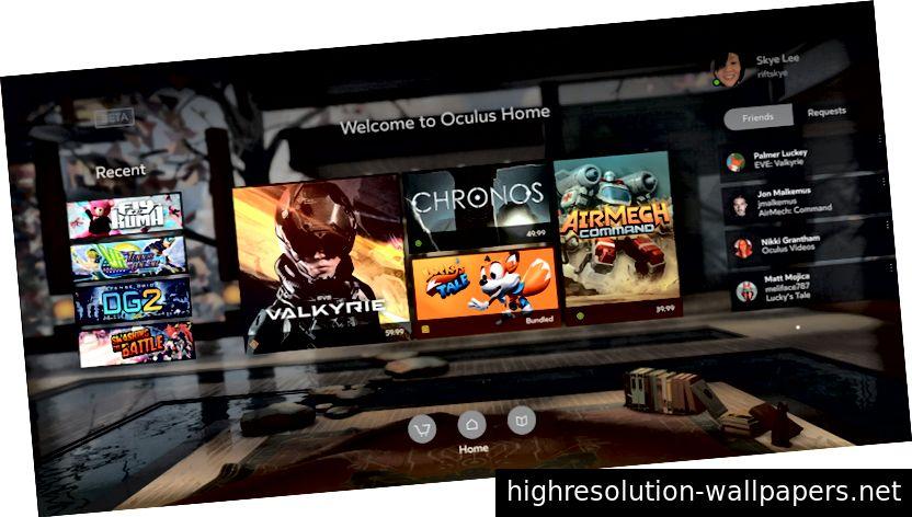 Et billboard til en Coca-Cola-annonce og Oculus UI