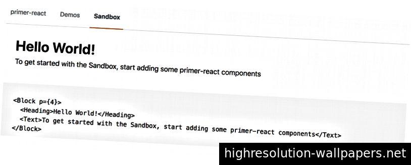 Sandkassen fra vores primer-react-komponentbibliotek.