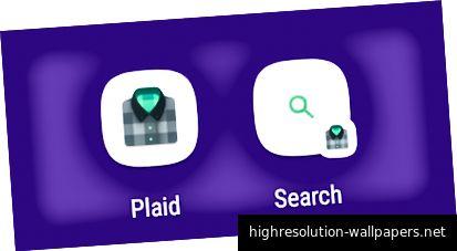 Ikoner og fastgjorte genveje til apps, der er målrettet til Android-O, men ikke leverer adaptive ikoner.