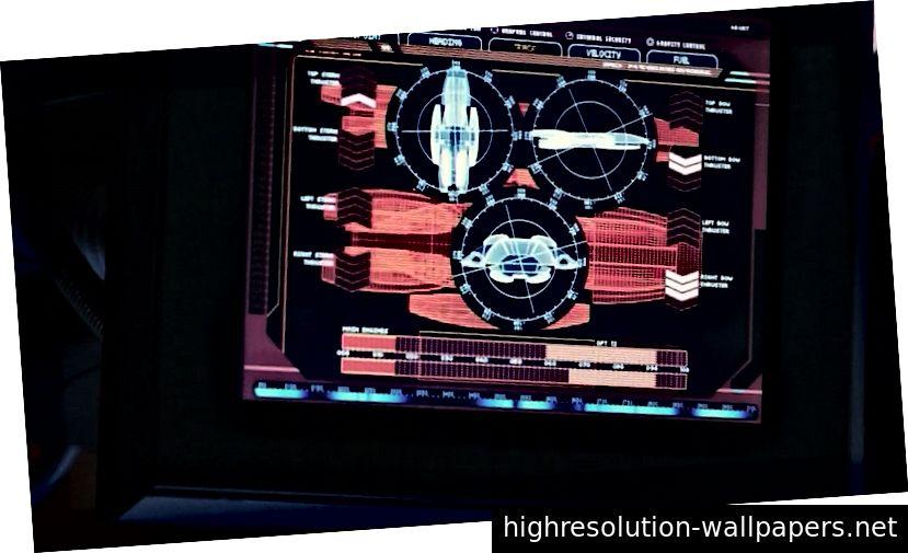 Battlestar Galactica UI med på designer Nick Acostas Tumblr