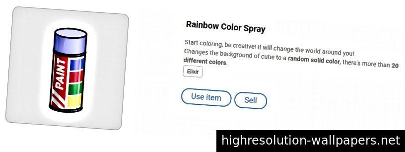 Ranbow Color Spray - ændrer baggrund til en tilfældig ensfarvet farve