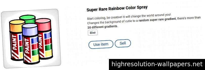 Super Rare Rainbow Color Spray - меняет фон на случайный редкий градиент цвета