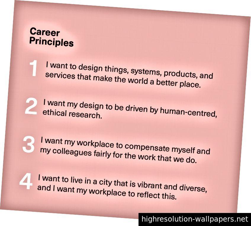 Mine karriereprincipper