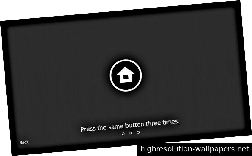 Για να ξεκλειδώσετε το διακόπτη πατήστε το πλήκτρο home και αγγίξτε οποιοδήποτε κουμπί τρεις φορές.