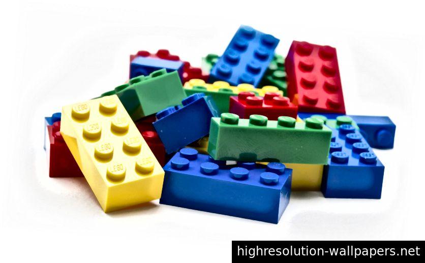 Μεταφορά του Lego στο σχεδιασμό: Τα τούβλα lego είναι τα ισοδύναμα των τούβλων των συστατικών του UI.