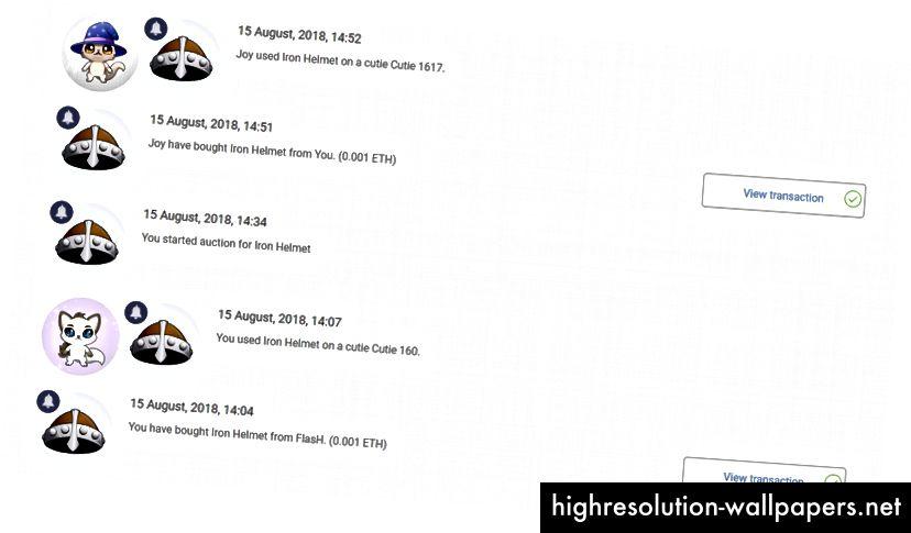 Jernhjelmen er blevet filtreret ud ved hjælp af den nye 'artikelhistorie' -funktion.