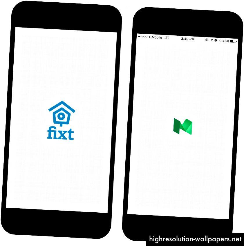 (Lijevo) Naša aplikacija, (Desna) Prava Srednja aplikacija.