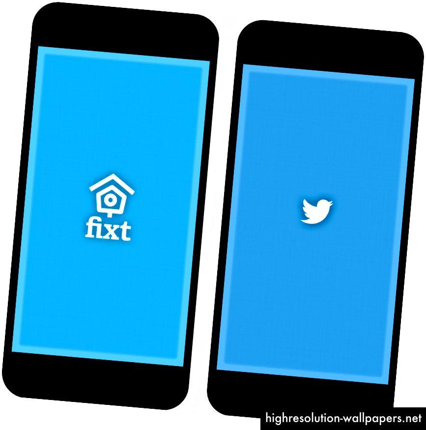 (Lijevo) Naša aplikacija, (Desna) Prava Twitter aplikacija.