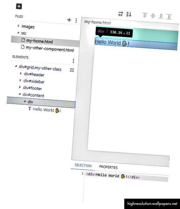 Valg og opdatering af HTML for et element.