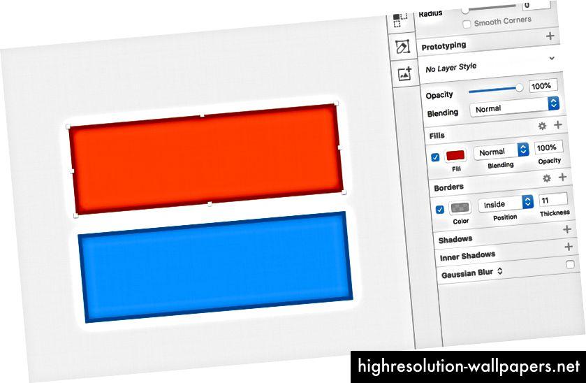 Ένα διαφανές μαύρο περίγραμμα σας βοηθάει να μιμείται ένα πιο σκούρο χρώμα χωρίς το κεφάλαιο hex-value.