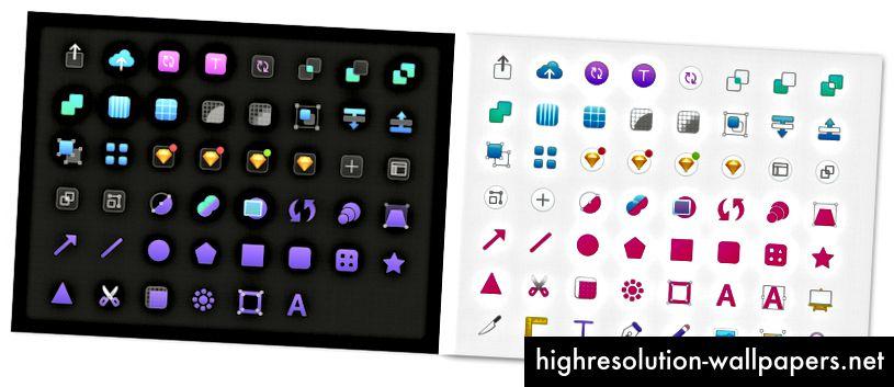 Iconos de barra de herramientas personalizados