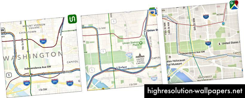 Washington D.C .: Transit vs. Apple mod Google