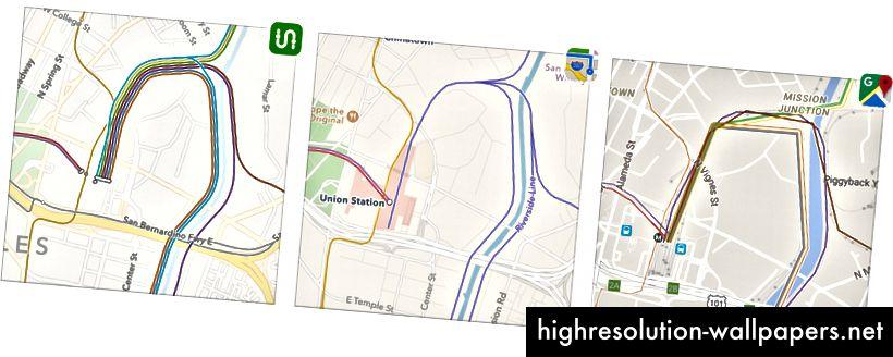 Los Angeles: Transit vs Apple vs Google