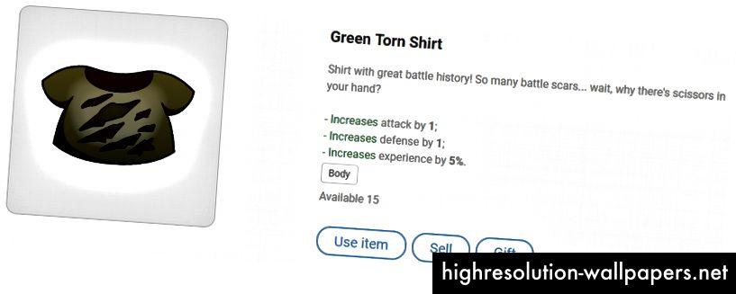 Зелена скъсана риза - изглежда, че е имала няколко груби дни!