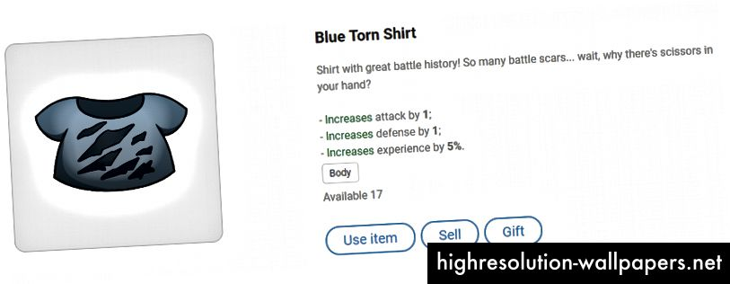 Blå revet skjorte - ser ud til at have haft nogle hårde dage!