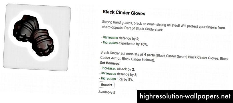 Black Cinder комплект - уникално оборудване