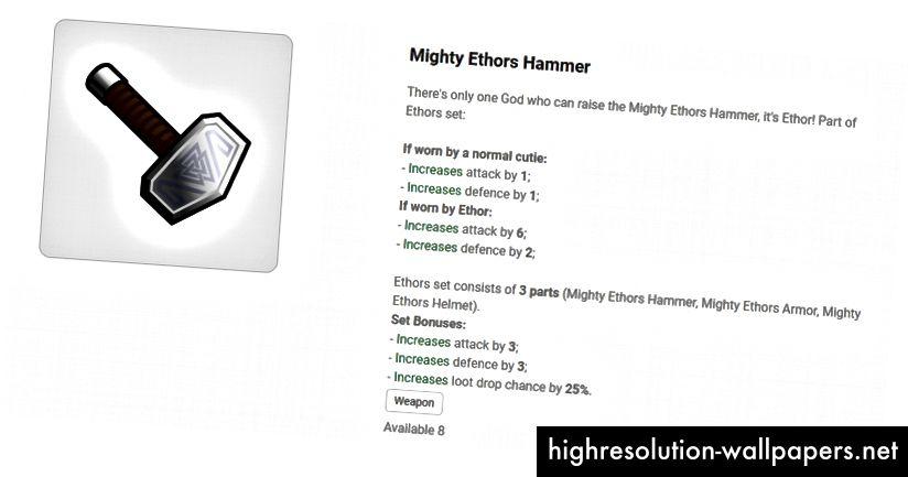 Mighty Ethors hammer nu er et våben