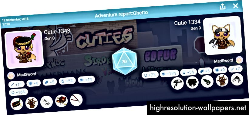 Всички бонусни бонуси вече са показани в доклади за приключения, както и износени предмети - ура!