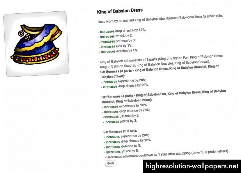 King of Babylon kjole