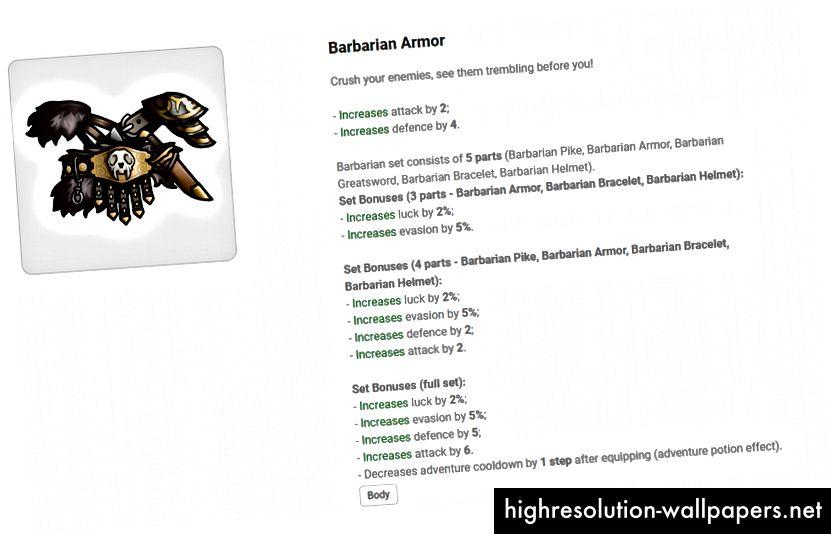 Barbarian rustning