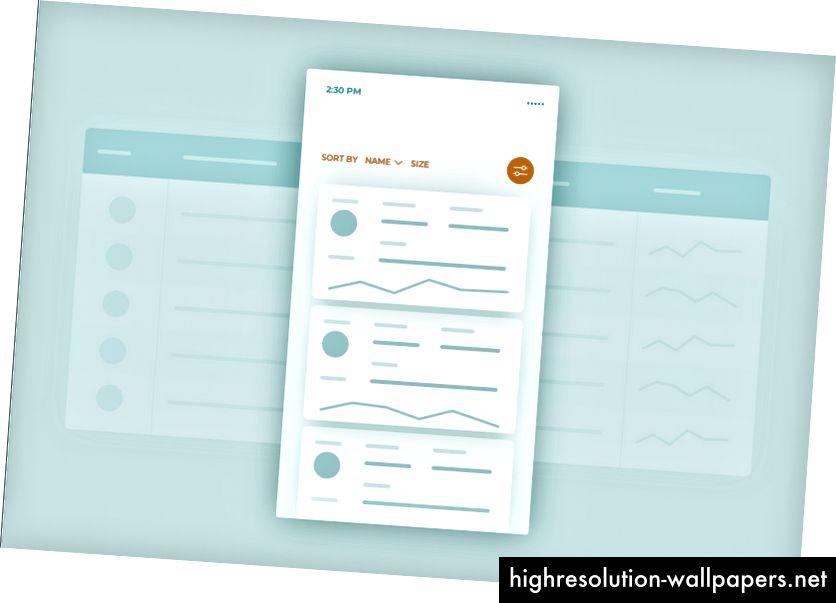 Ejemplo de tabla de datos receptiva transformada