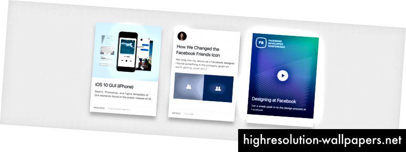 Περιουσιακά στοιχεία από το ενημερωμένο Facebook.design που διαθέτει εργαλεία, γραφή και βίντεο