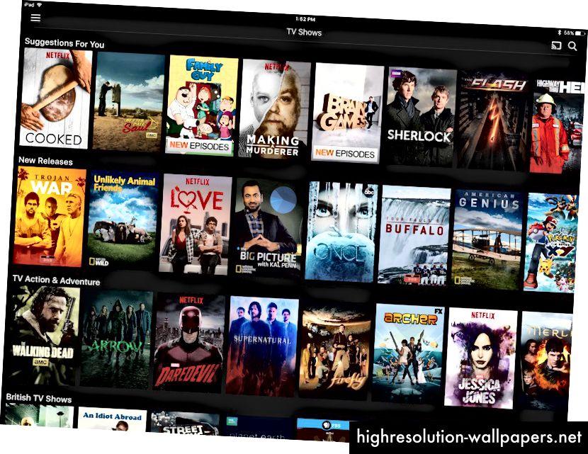 Aplikacija Netflix - iOS