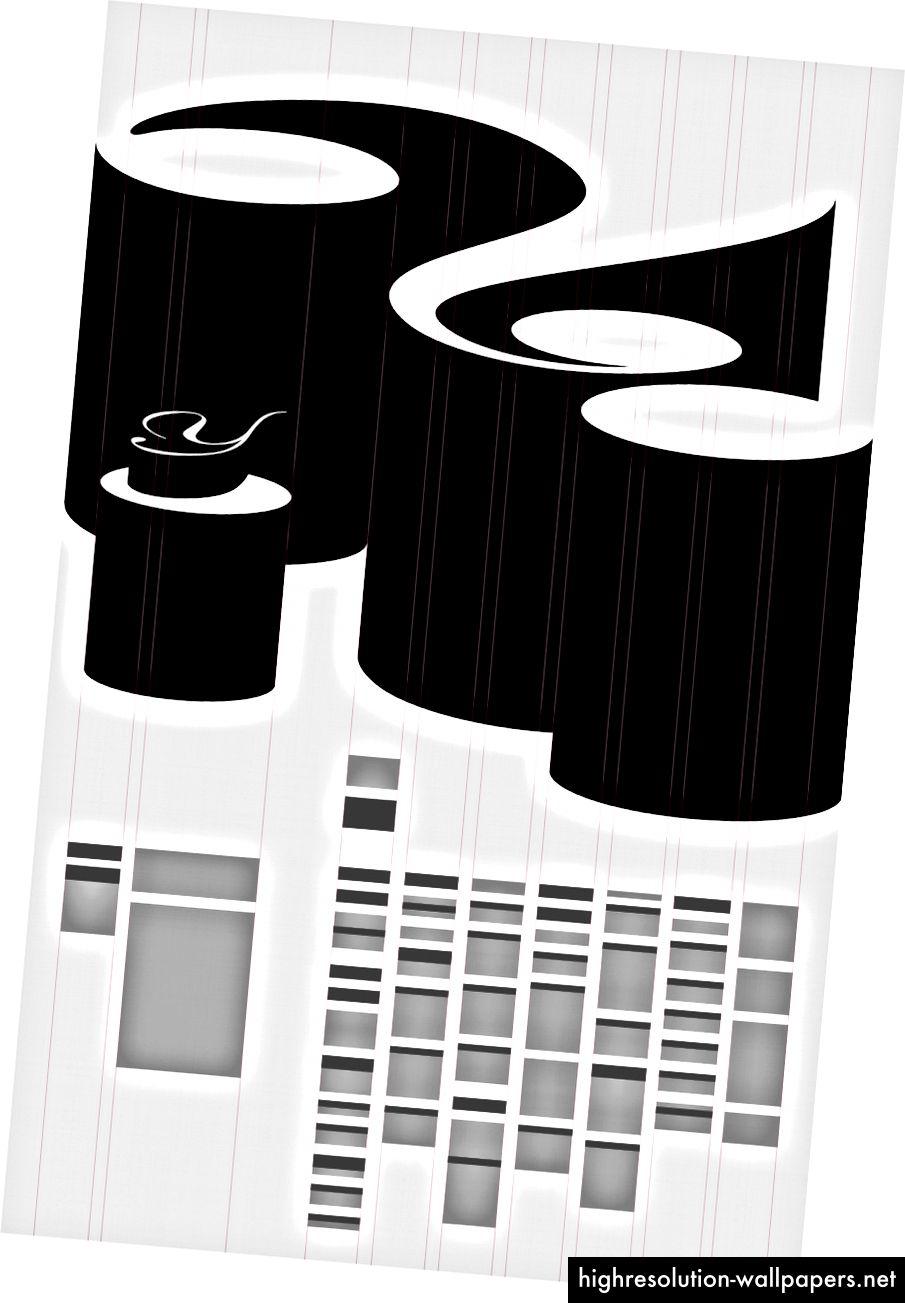 Типът на размерите създава вертикална решетка, която информира типа, както и дизайна на самия въпросник.