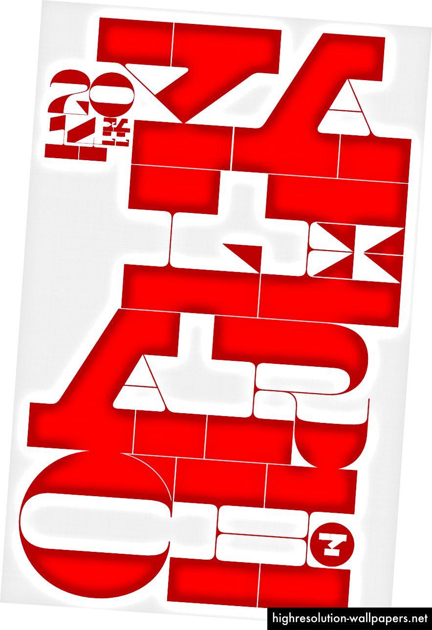 Играта с подравняването на Maelstrom разкрива възможности за оформяне на полета в интересни форми и информира за разположението на по-малки типографски елементи.