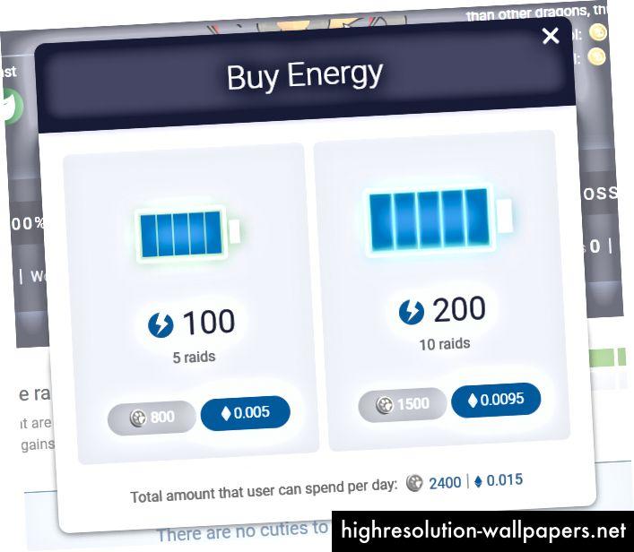 Comprar más energía emergente