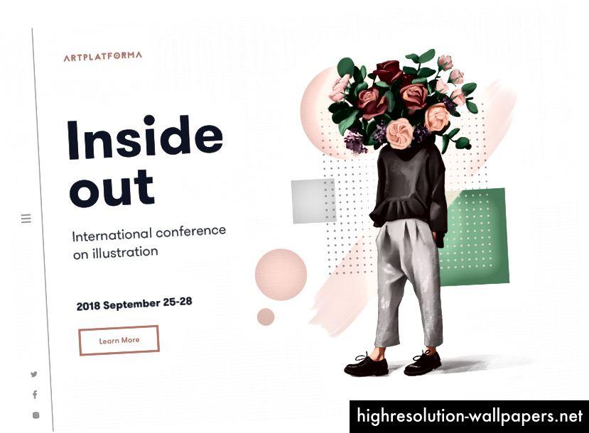 Zasluge: Tubik; https://dribbble.com/shots/5473134-Design-Event-Landing-Page