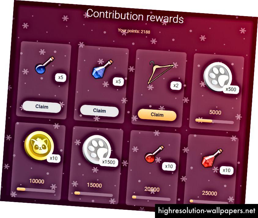 Recompensas de contribución navideña