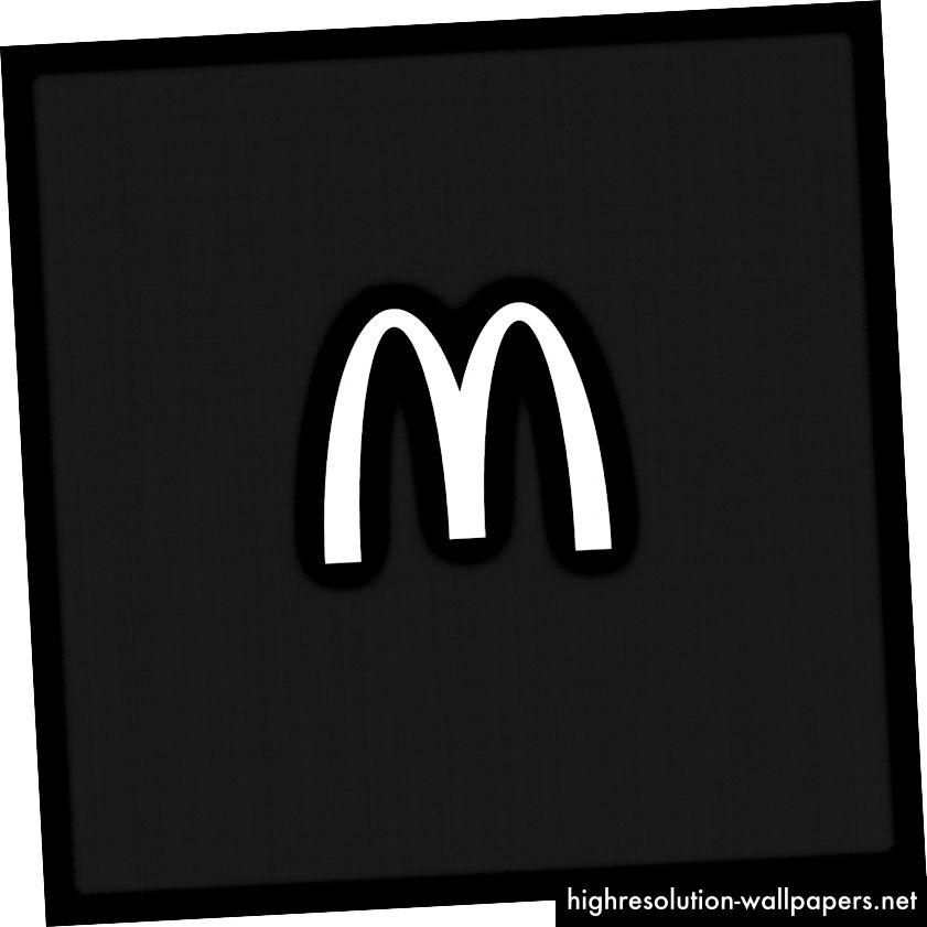 Mcdonalds logo lako se može rekreirati i strukturno je zvučan.